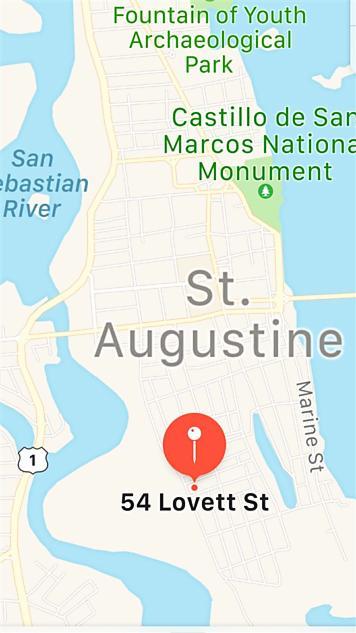 Photo of 54 Lovett St. St Augustine, FL 32084